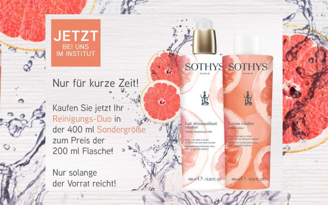 Angebot August 2020 – SOTHYS Reinigungs- Große Größen, kleiner Preis!