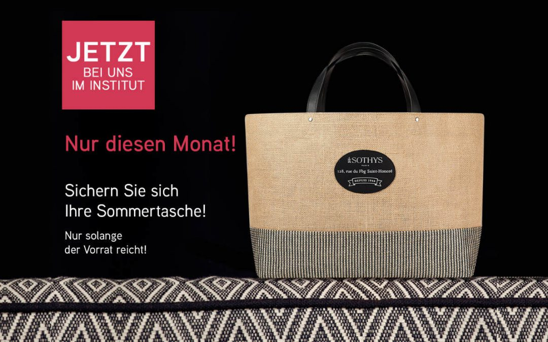 Angebot August – Gratis SOTHYS Sommertasche ab einem Einkaufswert von 80€