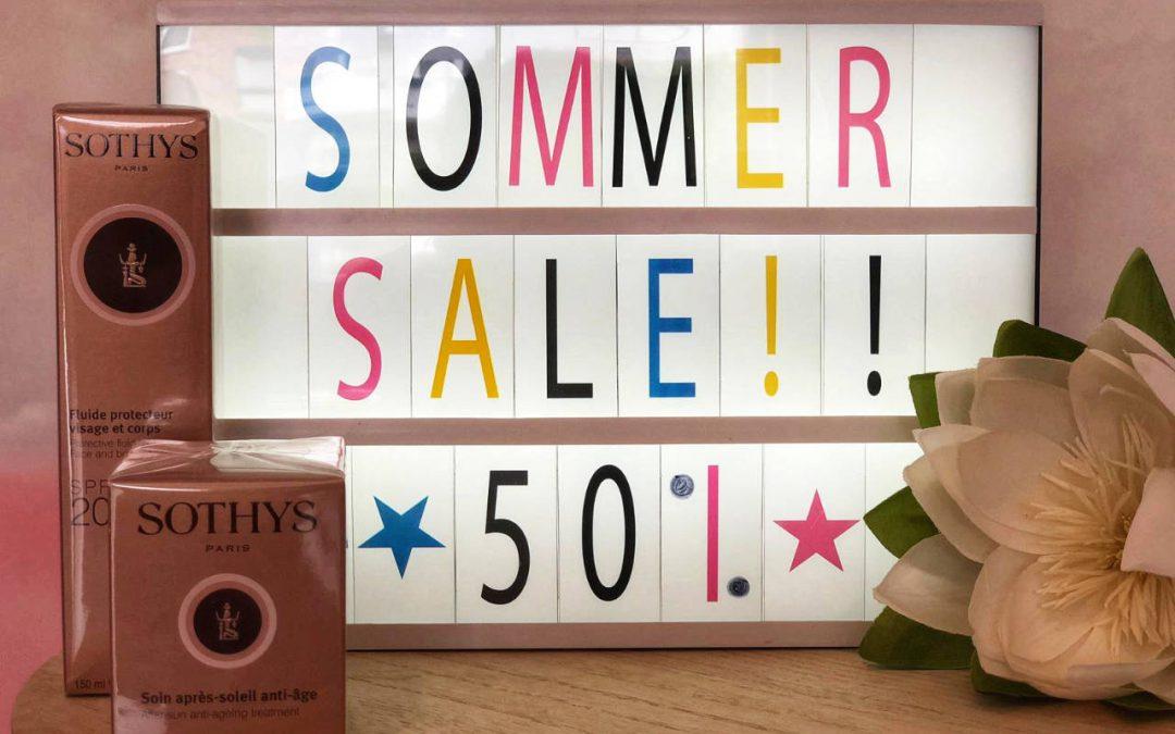 Angebot September – Sommer Sale – bis zu 50% Rabatt auf ausgesuchte Produkte von SOTHYS