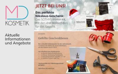Wichtige Info – Derzeit nur Fußpflege möglich  – SOTHYS-Produkte direkt nach Hause bestellen – Angebote und Geschenkideen zu Nikolaus und Weihnachten