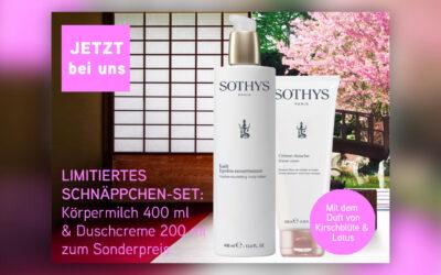 Angebot Januar – SOTHYS Kirschblüte & Lotus Duschcreme und Körper-Emulsion im Set zum günstigen Preis – aktuelle Infos